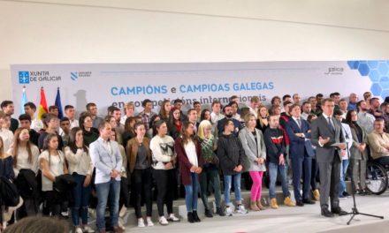 RECEPCIÓN DO PRESIDENTE DA XUNTA Á MEDALLISTAS GALEGOS INTERNACIONAIS