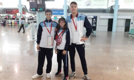 Noa Romero, Samuel Meilán e Sergio Troitiño, camiño do Europeo Cadete