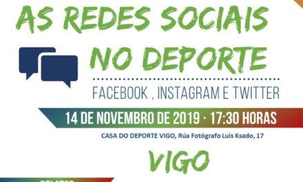 """O xoves 14 de novembro, xornada de formación """"As redes sociais no deporte"""""""